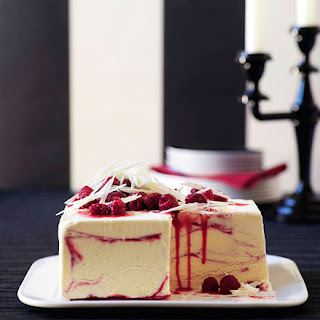 White Chocolate And Raspberry-ripple Ice-cream Cake