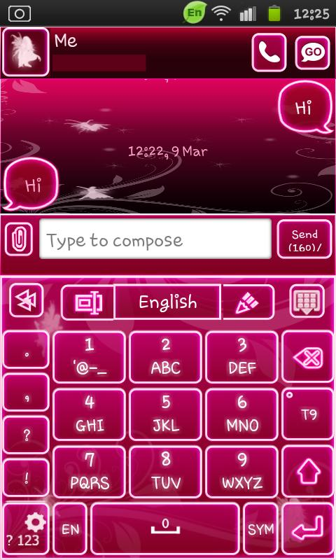 Go Keyboard Fairy Pink - screenshot