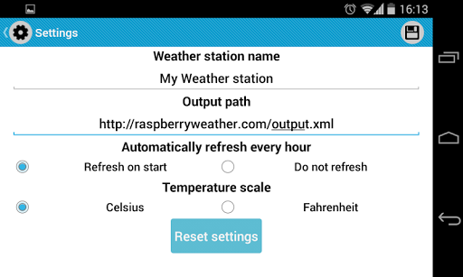 Raspberry Weather app (apk) free download for Android/PC/Windows screenshot
