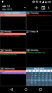 aCalendar+ Calendar & Tasks Screenshot