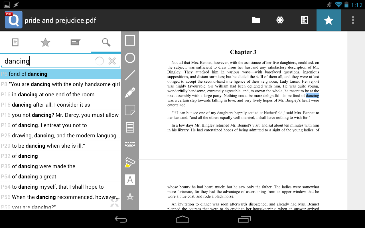 qPDF Notes Pro PDF Reader - screenshot