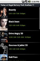 Screenshot of ShowTimes
