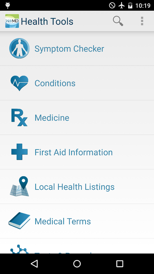 WebMD for Android - screenshot