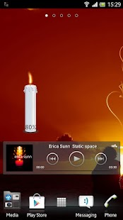 Candle battery widget - screenshot thumbnail