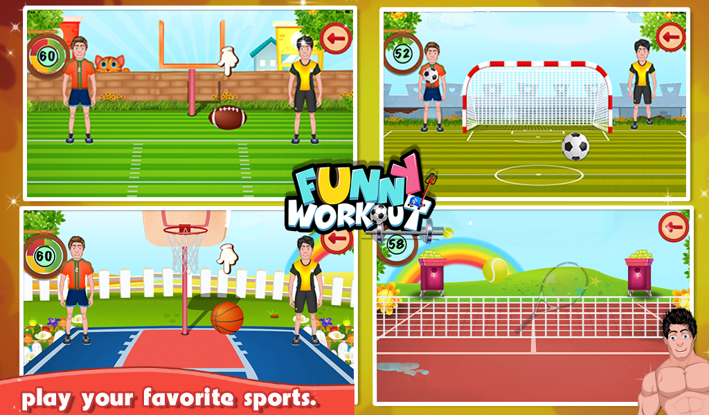 Funny Workout - Kids Game- screenshot