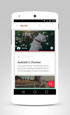 Menote - Notes, Diary - screenshot