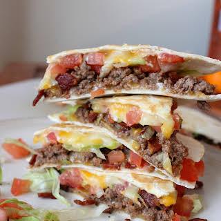 Bacon Cheeseburger Quesadillas.