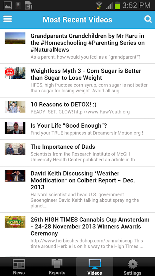 Natural News Mobile - screenshot
