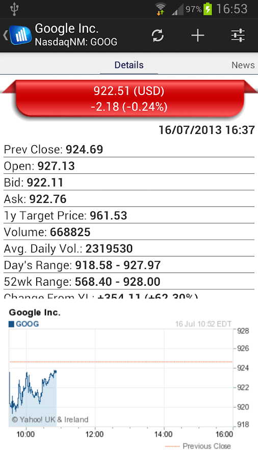Stock Market- screenshot