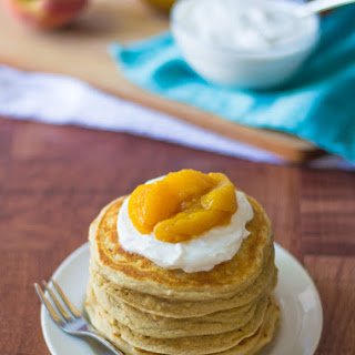 Peaches and Cream Pancakes.