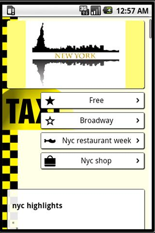 NYC Visitors Guide - screenshot