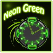 Neon Green Style Clock 2