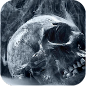 Skull Smoke Live Wallpaper
