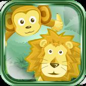 Jungle Monkey & Lion