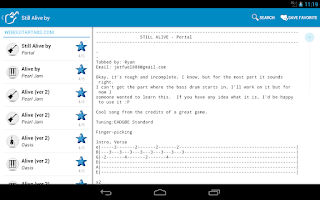 Screenshot of Achording Guitar Tabs & Chords