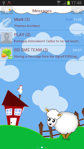 GO SMS Pro Happy Farm Theme