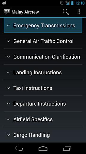 Malay Aircrew Phrases