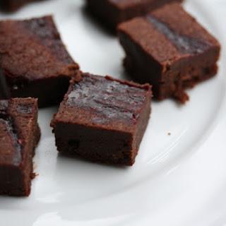 Chocolate-Raspberry Mini Brownies.
