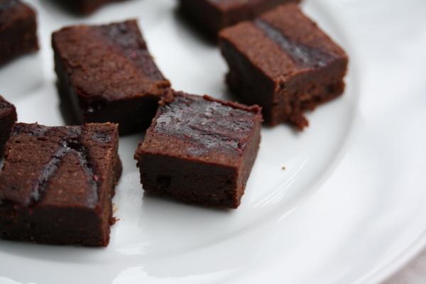 Chocolate-Raspberry Mini Brownies Recipe