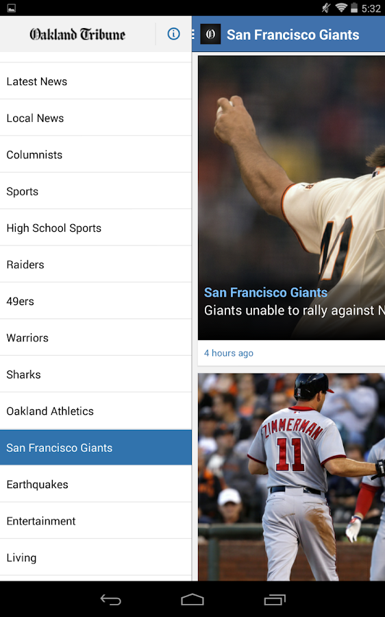Oakland Tribune- screenshot