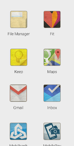 Stained icon theme