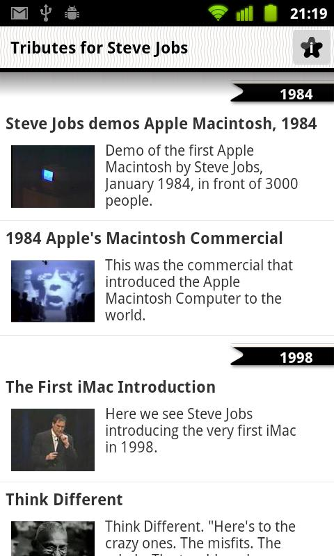 Keynotes of Steve Jobs - screenshot