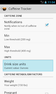 Caffeine Tracker Lite - screenshot thumbnail