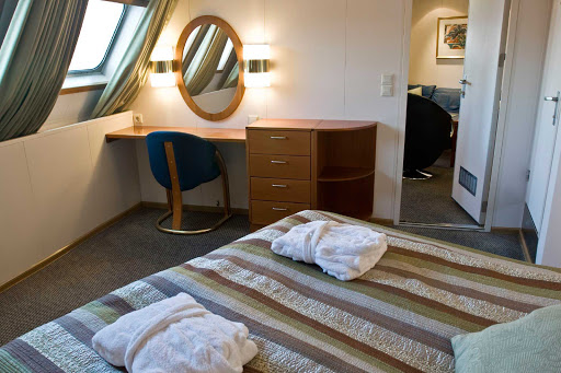 One of the suites aboard Hurtigruten's Kong Harald.