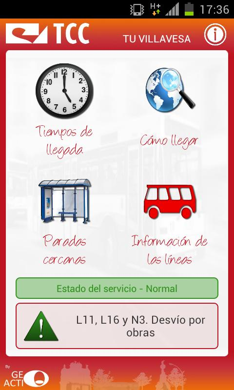 Tu Villavesa - Bus Pamplona - screenshot