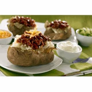 Chili-Stuffed Baked Potatoes.