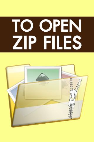 To Open Zip Files