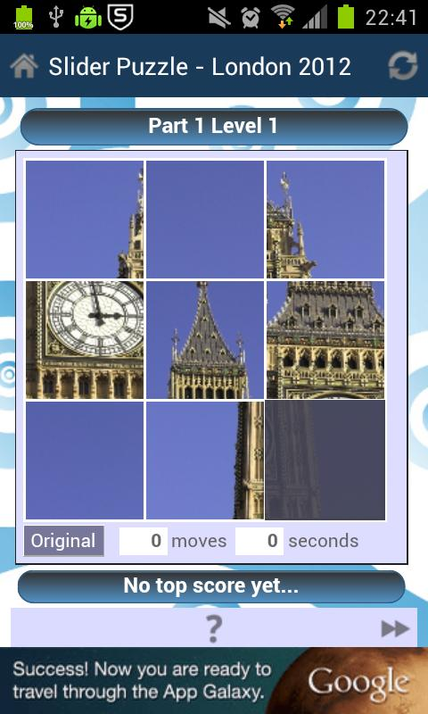 Slider Puzzle - London 2012- screenshot