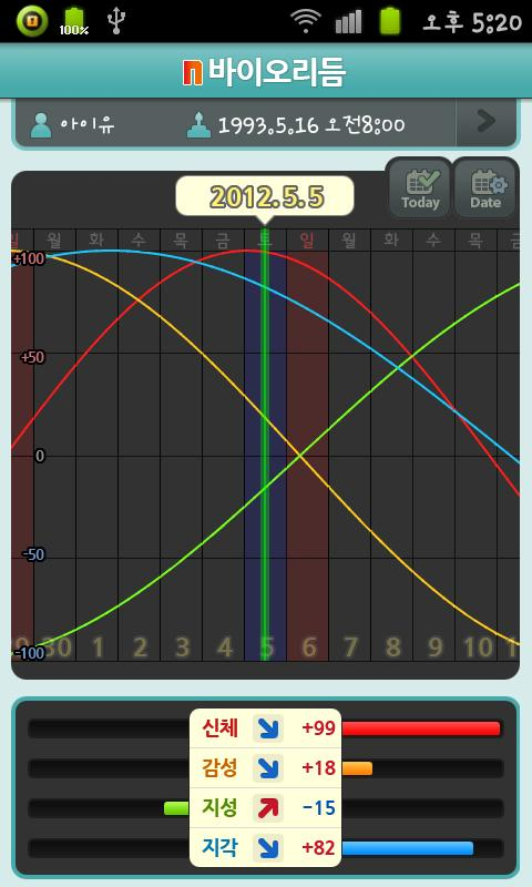 N Biorhythm - screenshot