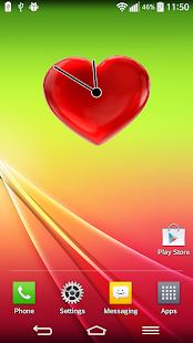 愛 的心 模擬 時鐘 小工具