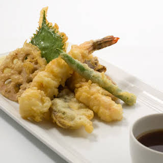 Tempura Shrimp and Vegetables.