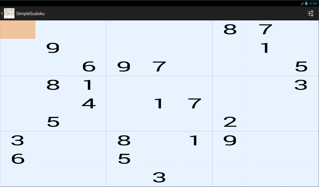 SimpleSudoku 9