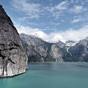 TRACY ARM by Gary Colwell - Landscapes Mountains & Hills ( sawyer glacier, mountains, alaska, tracy arm, usa,  )
