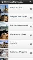 Screenshot of Zaragoza Audioguida, Spagna