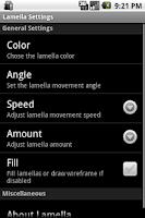 Screenshot of Lamella