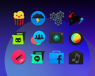 BLACKMoon - Icon Pack v3.01