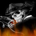 Gangster Skeleton Live Wallpap icon
