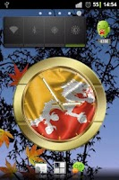 Screenshot of Bhutan flag clocks