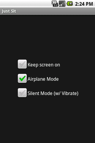 JustSit- screenshot