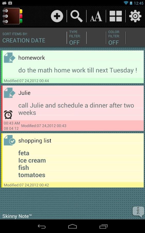 SkinnyNote Notepad- screenshot