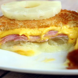 Hawaiian Grilled Cheese Sandwich.