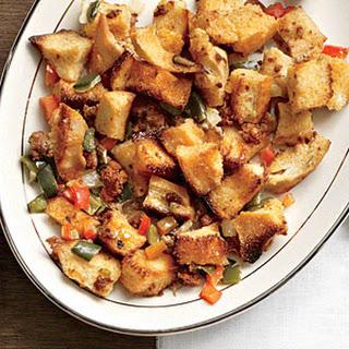 Tri-Pepper Chorizo Stuffing