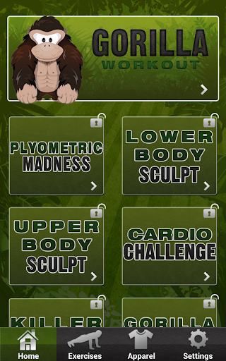 Gorilla Workout: Strength Plan v18.4.4 (Unlock)