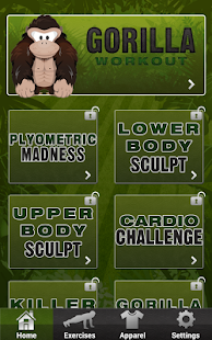 Gorilla Workout: Strength Plan - screenshot thumbnail