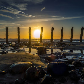 Walney island sunset by Gareth Fleming - Landscapes Sunsets & Sunrises ( #sunset #lakedistrict #beach #sea #sand #water #clouds, landscape, beach,  )