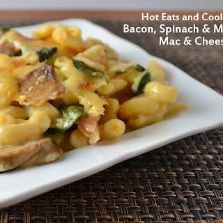 Bacon, Spinach and Mushroom Macaroni and Cheese.